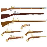Antique firearms Stock Photography