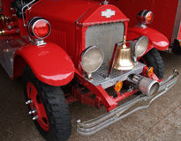 Antique firefighters truck. Several antique restored firefighters trucks royalty free stock photography