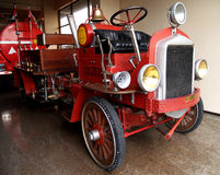 Antique firefighters truck. Several antique restored firefighters trucks stock image