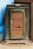 Antique fireplace. In warehouses Royalty Free Stock Photos