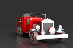 Antique firetruck. A 3d rendering of an antique firetruck Royalty Free Stock Photography