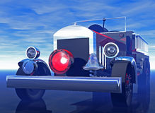 Antique firetruck. A 3d rendering of an antique fire truck of original design Royalty Free Stock Photography