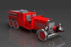 Antique firetruck. A 3d rendering of an antique fire truck of original design Stock Photos