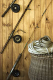 Antique Fishing Equipment Royalty Free Stock Photo