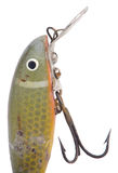 Antique fishing lure. With hooks Royalty Free Stock Photo