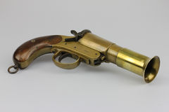 Antique flare gun Stock Image