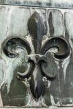 Antique Fleur-de-lis on Metal II. Antique Fleur-de-lis on Metal royalty free stock images