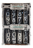 Antique Flip Number Analog Display Royalty Free Stock Photography