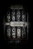 Antique Flip Number Analog Display Stock Photography