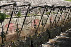 Antique flood or sluice gates Stock Photography