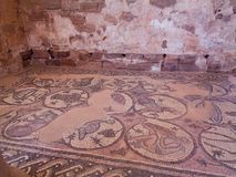 antique floor painting in a temple royalty free stock photo