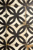 Antique floor tiles abraded backdrop corridor Royalty Free Stock Photo