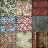 Antique Floral Background. A rich, textural background for scrapbooking and design, 12x12 inches in size royalty free stock images