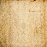 Antique Floral Damask Background Stock Photos