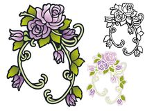 Antique floral swag Royalty Free Stock Images