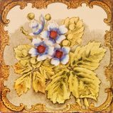 Antique Floral Tile Stock Photography
