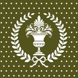 Antique flower vase in a laurel wreath pattern. Seamless empire pattern, full scalable vector graphic included Eps v8 and 300 dpi JPG Stock Photography