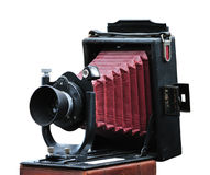 Antique folding camera Stock Photography