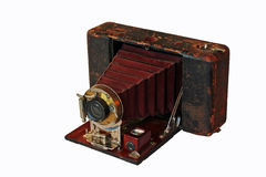 Antique Folding Camera Stock Photo