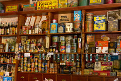 Antique food products Stock Image
