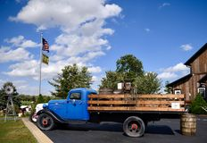 Antique Ford Flatbed TruckFord Tractor royalty free stock photography