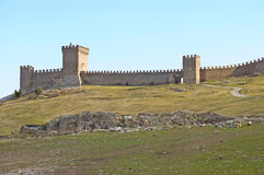 Antique fortress. Genoes`s fortress in Sudak Crimea Stock Images