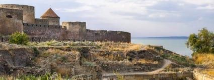 Antique fortress. In Belgorod-Dnestrovsk, Ukraine stock images
