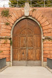 Antique fortress door in Firenze. At Fortezza da Basso Stock Image