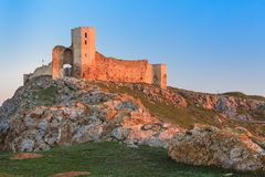 Antique fortress ruins. Enisala, Romania Royalty Free Stock Image
