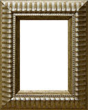 Antique Frame. Antique wood picture frame with isolated white center Royalty Free Stock Images