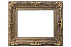 Antique frame. Isolated on white background Royalty Free Stock Image