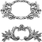 Antique Frame. Engraving, Scalable And Editable Vector Illustration Stock Images