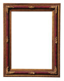 Antique frame. Antique wooden frame with gold ornament isolated on white Royalty Free Stock Photo