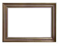 Antique frame. Antique wooden frame isolated on white background Stock Photography