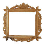 Antique frame. Antique wooden frame isolated on white background Royalty Free Stock Image