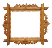 Antique frame. Antique wooden frame isolated on white background Royalty Free Stock Photography