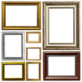 Antique frame. Art frame isolated on white background Royalty Free Stock Images