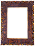 Antique Frame. Antique  wood picture frame with isolated white center Royalty Free Stock Photos