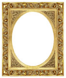 Antique frame. Antique carved golden  frame over white Stock Images