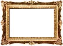 Antique frame. Antique carved gilded  frame over white Stock Photography