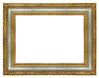 Antique frame. Antique carved gilded  frame over white Royalty Free Stock Image