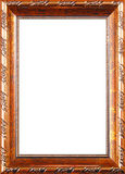 Antique frame. Whis gold ornament stock photography