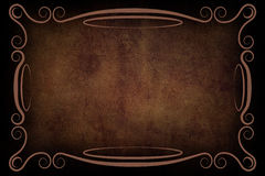 Antique Frame on Background With Texture Royalty Free Stock Image