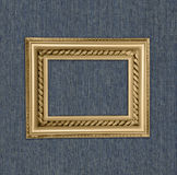 Antique frame on a blue background Royalty Free Stock Photos