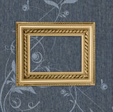 Antique frame on a blue background Royalty Free Stock Image