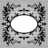 Antique frame border on a grey background Royalty Free Stock Photos