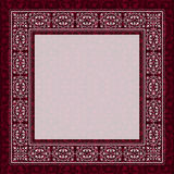 Antique frame border on a red background Royalty Free Stock Photos