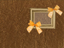 Antique frame with bows Stock Photography