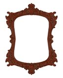 Antique frame. Antique brown wood isolates ancient frame  illustration Stock Photo