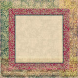 Antique frame collage background. Collage with frame and ornaments for your project Stock Photo